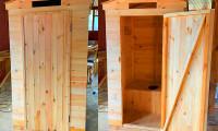Дачный туалет Квадрат 1х1 метр